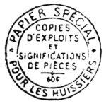 afb1 stempel deurwaarder vermelding collectie BD